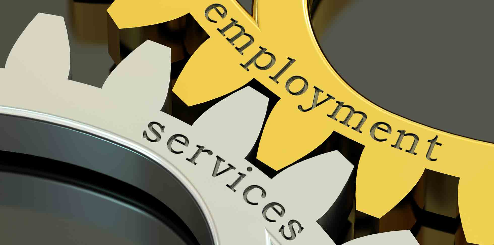 Gears that say emplyment services